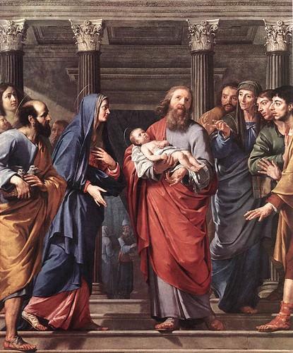 Con vosotros, Santo anciano Simeón, santa profetiza Ana, recibimos gozosos en el templo de nuestro corazón y de brazos de Maria y José, a Jesús, la luz del mundo.