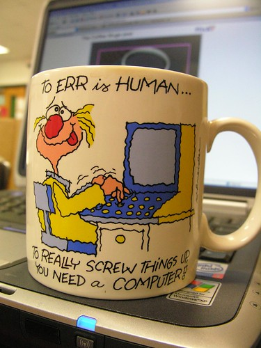 Coffee Mug and Computer by Old Shoe Woman, on Flickr