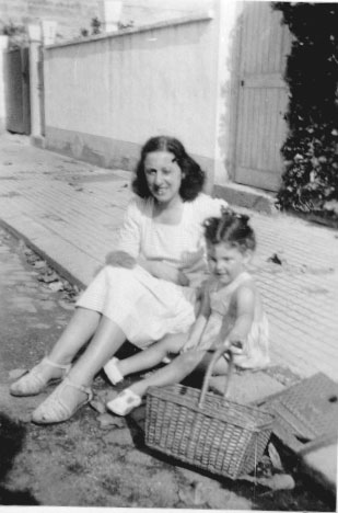With my aunt Fanny in 1947