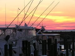 41 Sun Sets over Charter Fishing Boats