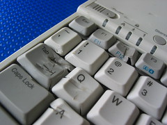 Abused Laptop Keyboard