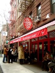 outside the Cornelia Street Cafe