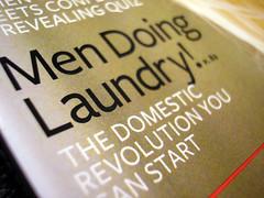 men doing laundry