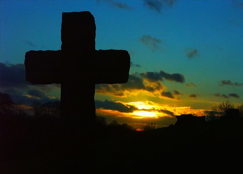 Image result for cemetery sunset