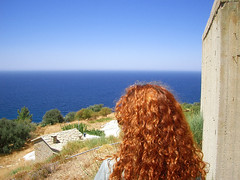 Ikaria 011 (isl_gr (away on an odyssey)) Tags: girl hair beautyconcealed ikaria  aegean replacement greece mane theisland   geniiloci chercherlafemme flamingmane top20greece blistercopper