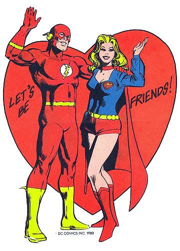 Flash & Supergirl Valentine