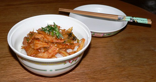 Pork-Kimchi Donburi