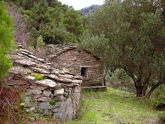Ikaria 066 (isl_gr (away on an odyssey)) Tags: mountain architecture island hiking beautyconcealed ikaria  aegean trails greece gorge theisland hikingikaria   caria  myrsonas