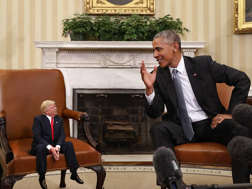 Lil Trump and Obama