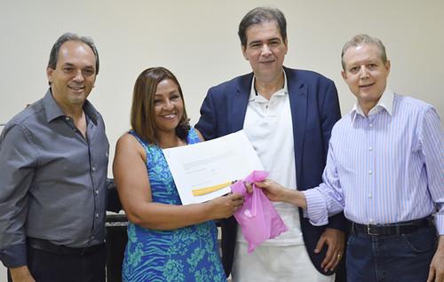 Luciano Araújo, Eunice Alves dos Santos, Mauro Oscar e José Maria Facundes - Projeto Fios de Amor - Foto Emmanuel Franco