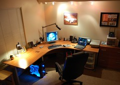 My computer desk on December 28, 2005