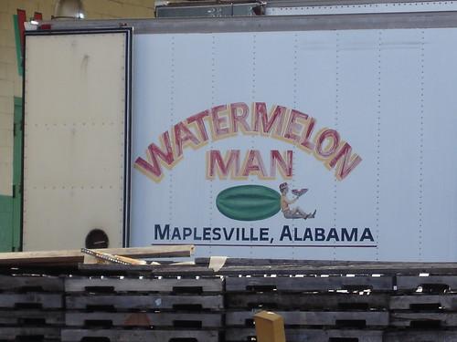 Watermelon Man, Maplesville AL at Farmer's Market, Birmingham AL