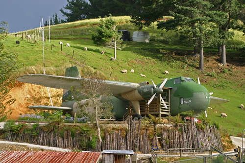 Airplane Hotel at Woodlyn  Park in New Zealand