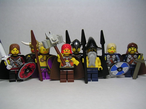 Norse gods as LEGO minifigs