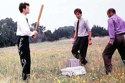 Being Cross: The printer smashing scene from Office Space
