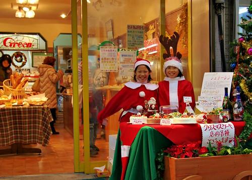 Happy salesgirls by JanneM.