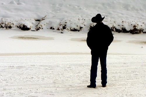Cowboy on the Snow