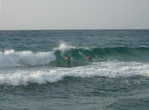 Bodysurfing Messakti beach, Ikaria by angeloska.