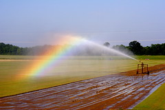 Irrigation rainbow