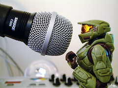 solider with mic