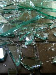 smashed glass