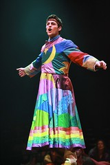 "Max von Essen as Joseph in the 2010 Music Circus production of ""Joseph and the Amazing Technicolor Dreamcoat"" at the Wells Fargo Pavilion July 20-25.  Photo by Charr Crail."