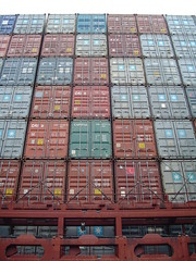 Containers on deck
