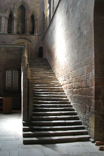 Monks stairs, Hexham Abbey (By RoryHenry on Flickr: Click image)