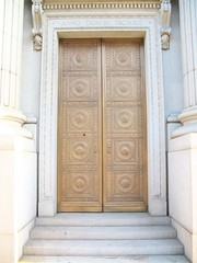 Door of The National Bank of D. O. Mills and C...