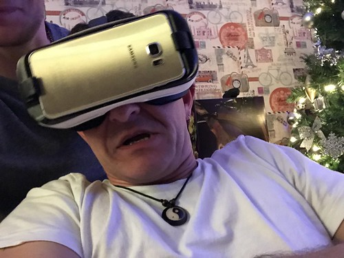 Today is all about...husby trying out VR