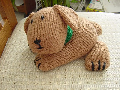Cute knitted puppy!!