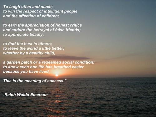 Ralph Waldo Emerson - Success