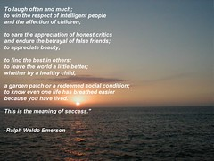 Ralph Waldo Emerson - Success