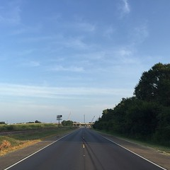 The Road Ahead. Day 114. Old Spanish Trail North in Billeaud, LA. Heat is rising, steady 100s, but there's a breeze now so somehow it doesn't feel so bad. Also, been relying on coffee too much so kicked that and getting back to meditating everyday. #thewo