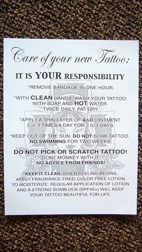 Tattoo Advice: Taking Good Care of A New Tattoo