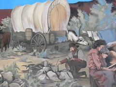 Oregon Trail Mural Detail