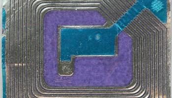Blue and Purple RFID tag