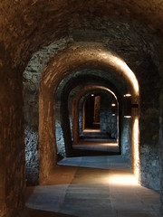 Under the Marienburg Fortress there are kilometers of tunnels, you get to see one of them on the guided tour