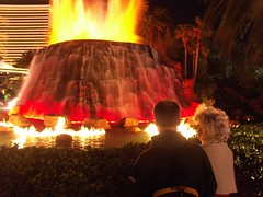 volcano erruption at the mirage