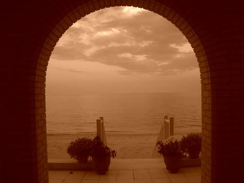 View of the Arabian Gulf Retro
