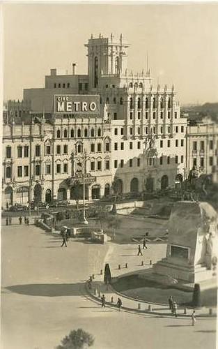 Plaza San Martín en los años 40s