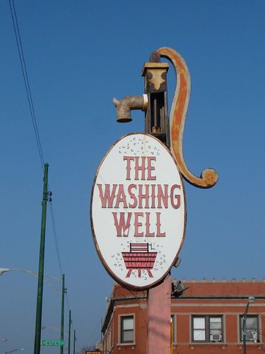 The Washing Well sign