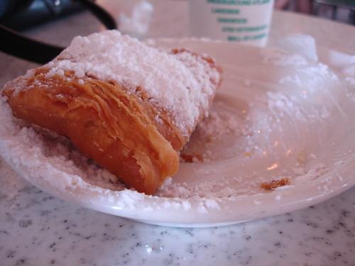 Beignet at Cafe du Monde, New Orleans LA