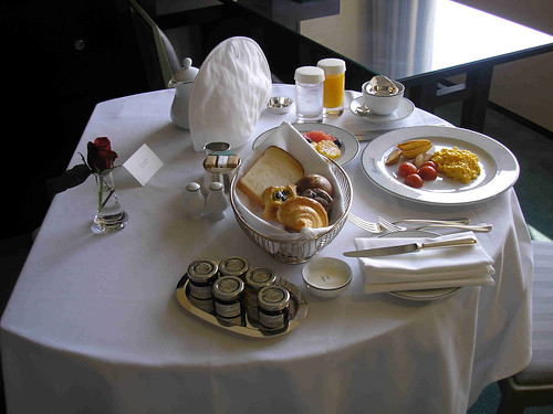 Breakfast - room service!