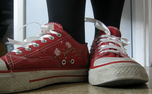 shoes embroidery sneakers
