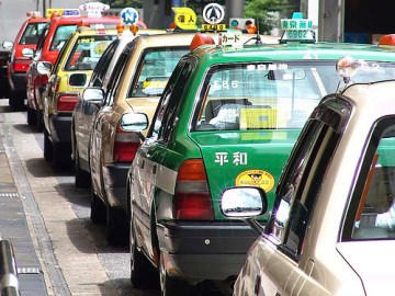 Taxis à Tokyo - Photo : Calonda