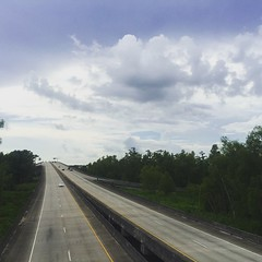 Highway through and over the swamps. Rt. 90 in Morgan City, LA. #theworldwalk #travel #twwphotos