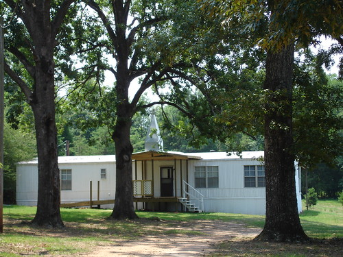 Mobile Home/Trailer Church with Steeple, Troy AL // Troy Community of Christ Church