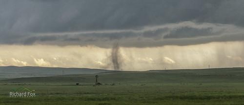 Land Spout & Hail