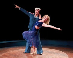 """Zachary S. Berger as Billy Lawlor and Melissa Lone as Peggy Sawyer in the 2010 Music Circus production of """"42nd Street"""" at the Wells Fargo Pavilion August 24-29.  Photo by Charr Crail."""